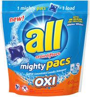 all® OXI mighty pacs® Laundry Detergent 60 ct. Pouch