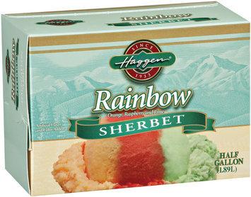 Haggen Rainbow Sherbert .5 Gal Carton