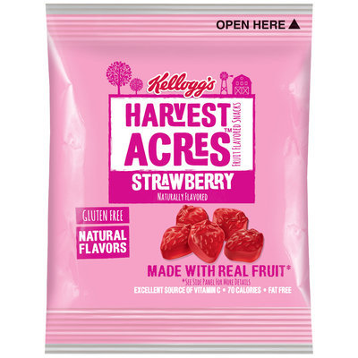 Kellogg's® Harvest Acres™ Strawberry Fruit Flavored Snacks 0.8 oz. Pouch