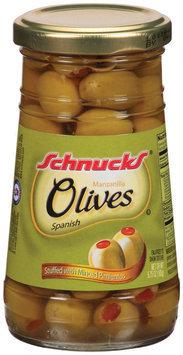Schnucks Manzanilla Spanish Olives 5.75 Oz Jar