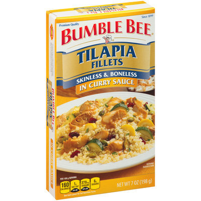 Bumble Bee® Tilapia Fillets in Curry Sauce 7 oz. Box