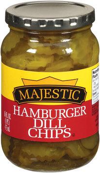 Majestic Hamburger Dill Chips Pickles 16 fl. oz.