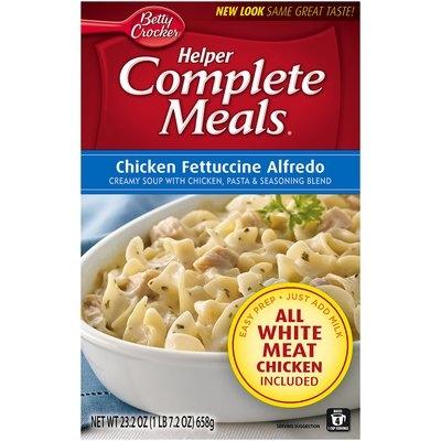 Betty Crocker® Helper Complete Meals® Chicken Fettuccine Alfredo 23.2 oz. Box