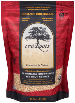 TruRoots™ Organic Whole Grain Germinated Brown Rice 14 oz. Bag--TruRoots™ Biologique Aux Grains Entiers Riz Brun Germes Sac de 396 g
