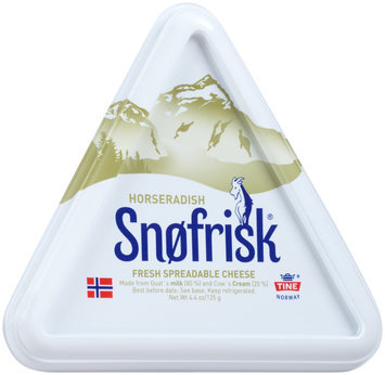Snofrisk® Horseradish Fresh Spreadable Cheese 4.4 oz. Container