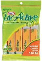 Kraft Liveactive Cheddar Natural 7 Ct Cheese Sticks 7 Oz Peg