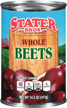 Stater Bros.® Whole Beets 14.5 oz. Can