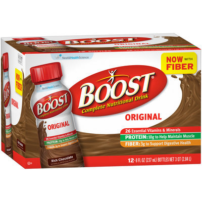Boost® Original Rich Chocolate Complete Nutritional Drink 12-8 fl. oz. Bottles