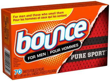 Bounce Pure Sport Dryer Sheets For Men 70 Count