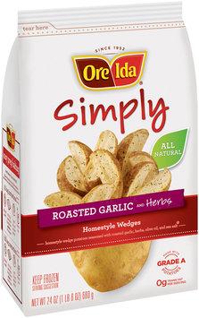 Ore-Ida® Simply Roasted Garlic and Herbs Homestyle Wedges 24 oz. Bag