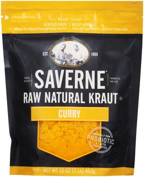 Saverne® Raw Natural Curry Kraut 16 oz. Pouch
