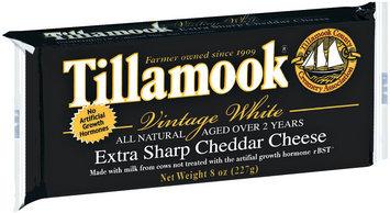 Tillamook Vintage White Extra Sharp Cheddar Cheese 8 Oz Chunk