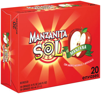 Manzanita Sol® Apple Soda 20 Pack 12 fl. oz. Cans