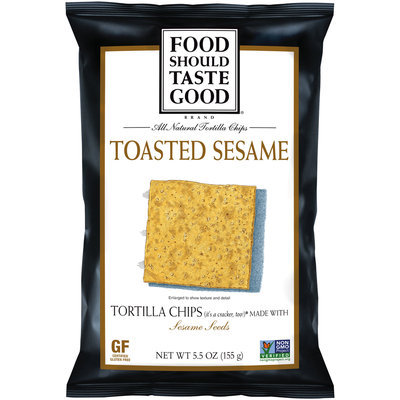 Food Should Taste Good Toasted Sesame Tortilla Chips