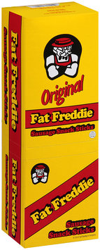 Fat Freddie Original Sausage Snack Sticks 2 Packages Display