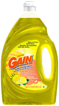 Gain® Ultra Antibacterial Lemon Zest Dishwashing Liquid 56 fl. oz. Plastic Bottle