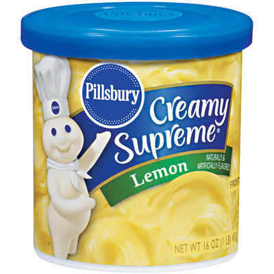 Pillsbury Creamy Supreme Lemon Frosting 16 Oz Canister