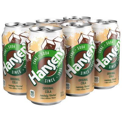 Hansen's® Natural Cane Original Cola 6-12 fl. oz. Cans
