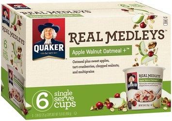 QUAKER Real Medleys Apple Walnut Oatmeal 15.8 Oz Box