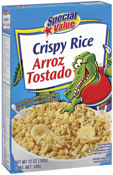 Special Value Crispy Rice Cereal 12 Oz Box