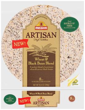 Mission Artisan Style Wheat & Black Bean Blend Tortillas 8 ct Bag