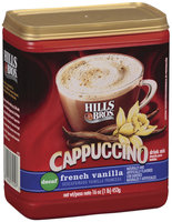 Hills Bros French Vanilla Decaf Cappuccino 16 Oz Plastic Container