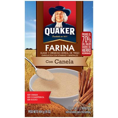 Quaker® Cinnamon Creamy Wheat Farina 16 oz. Box