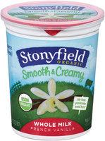 Stonyfield Organic™ Whole Milk French Vanilla Smooth & Creamy  Yogurt 32 oz. Tub