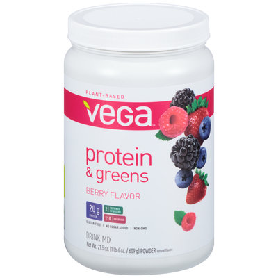 Vega™ Protein & Greens Berry Drink Mix 21.5 oz. Canister