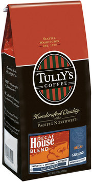 Tully's Coffee Decaf House Blend Medium Roast Ground Coffee 12 Oz Bag