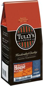 Tully's Coffee Decaf House Blend Medium Roast Ground Coffee 12 Oz Bag