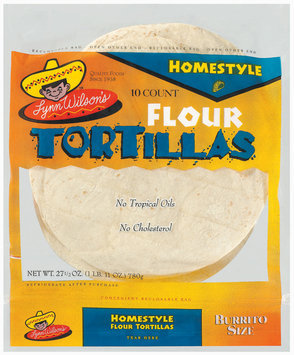 Lynn Wilson's Homestyle 10 Ct Flour Tortillas 27.5 Oz Bag