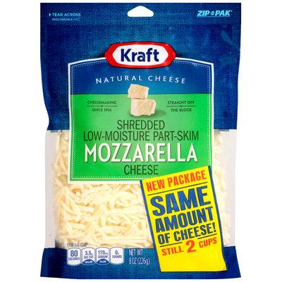 Kraft Shredded Mozzarella Cheese 8 oz. ZIP-PAK®