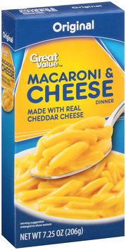 Great Value™ Original Macaroni & Cheese 7.25 oz. Box