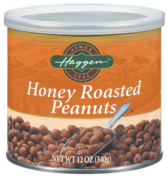 Haggen Honey Roasted Peanuts 12 Oz Canister