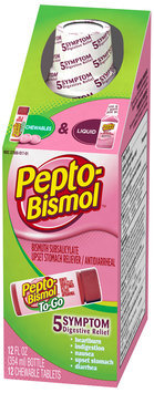 Pepto-Bismol Home & Away Upset Stomach Reliever/Anti-Diarrheal Combo Pack