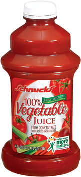 Schnucks 100% from Concentrate Low Sodium Vegetable Juice 46 Fl Oz Plastic Bottle