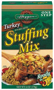 Haggen Turkey One Step Stuffing Mix 6 Oz Box