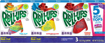 Betty Crocker® Fruit Roll-Ups™ Tropical Tie-Dye™/Blastin' Berry Hot Colors™/Strawberry Sensation™ Fruit Flavored Snacks Variety Pack