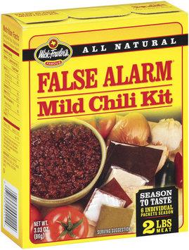 Wick Fowler's False Alarm Mild Chili Kit 3.03 Oz Box