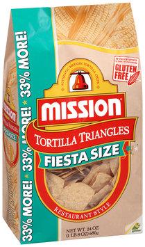 Mission® Fiesta Size Restaurant Style Tortilla Triangles 24 oz. Bag