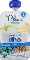 Plum® Organics Grow Well™ DHA Organic Baby Food 3.5 oz. Pouch