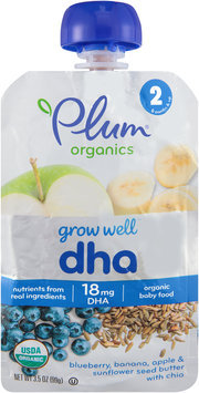 Plum® Organics Grow Well™ DHA Organic Baby Food 3.5 oz. Pouch
