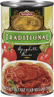 Springfield® Traditional Spaghetti Sauce 26.5 oz. Can