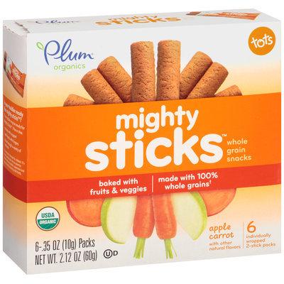 Plum® Organics Tots Mighty Sticks™ Apple Carrot Whole Grain Snacks 6-.35 oz. Box