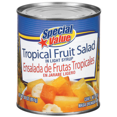 Special Value Tropical In Light Syrup Fruit Salad 30 Oz Can