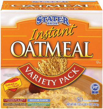 Stater Bros. Variety Pack 50 Ct Instant Oatmeal