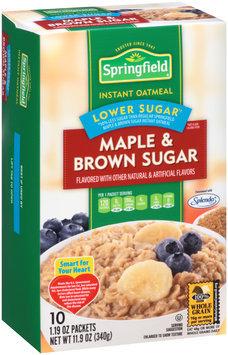 Springfield Lower Sugar Maple & Brown Sugar Instant Oatmeal 11.9 oz. Box