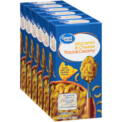 Great Value™ Thick & Creamy Macaroni & Cheese 6-7.25 oz. Boxes