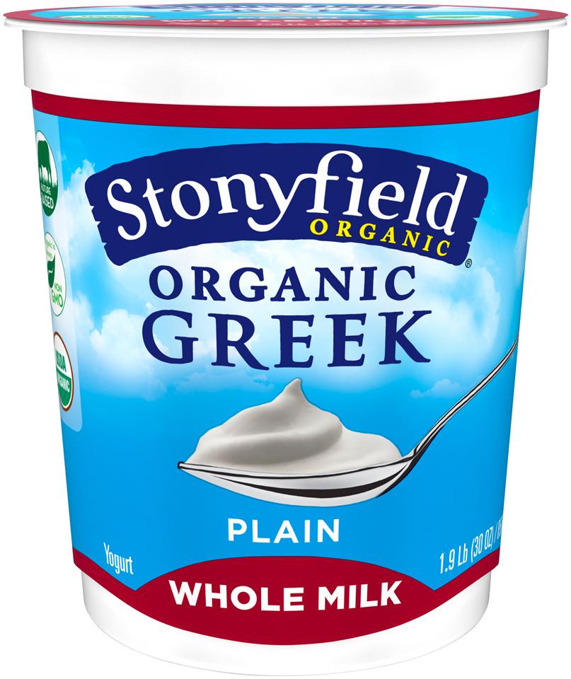 Stonyfield Organic® Greek Whole Milk Plain Yogurt 30 oz. Cup